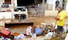 Η ΠΑΕ ΟΛΥΜΠΙΑΚΟΣ ΣΤΟ ΠΛΕΥΡΟ ΤΩΝ ΠΛΗΜΜΥΡΟΠΑΘΩΝ ΤΗΣ ΔΥΤΙΚΗΣ ΑΤΤΙΚΗΣ (ΦΩΤΟΓΡΑΦΙΑ: KLODIAN LATO / EUROKINISSI)