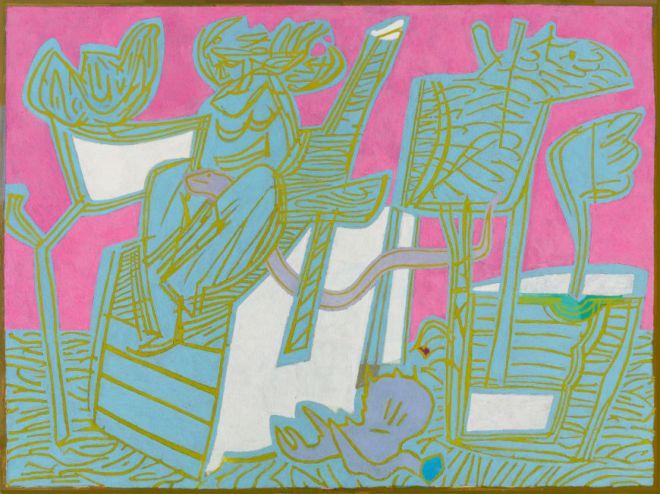 Αχιλλέας Παπακώστας Στο Χάραμα, 2018-2019 λάδι σε λινό 120 x 160 εκ.