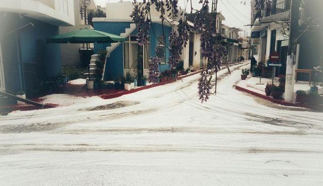 Πάσχα με χιόνια στο οροπέδιο Λασιθίου