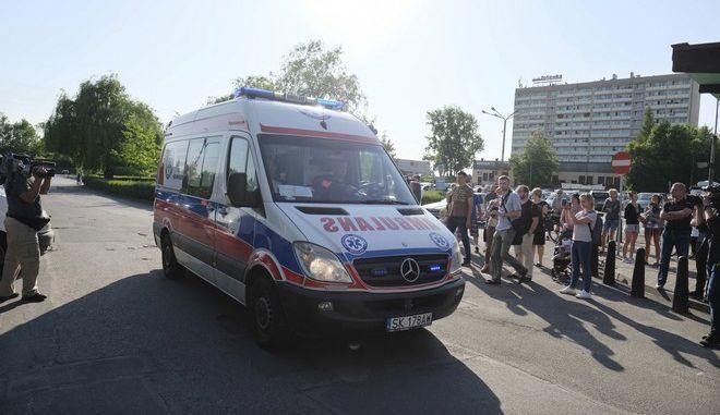 Ασθενοφόρο στο Jastrzebie-Zdroj της Πολωνίας