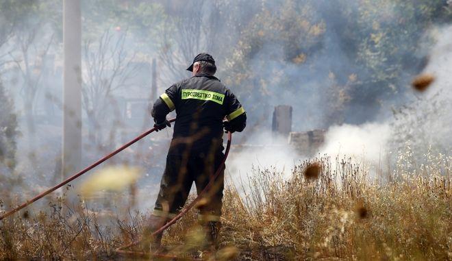 Θεσσαλονίκη: Υπό έλεγχο η φωτιά στη Θέρμη