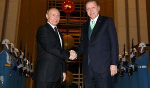 Συγχαρητήρια Ερντογάν σε Πούτιν για την επανεκλογή του