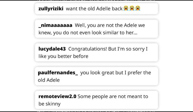 Σχόλια θαυμαστών της Adele