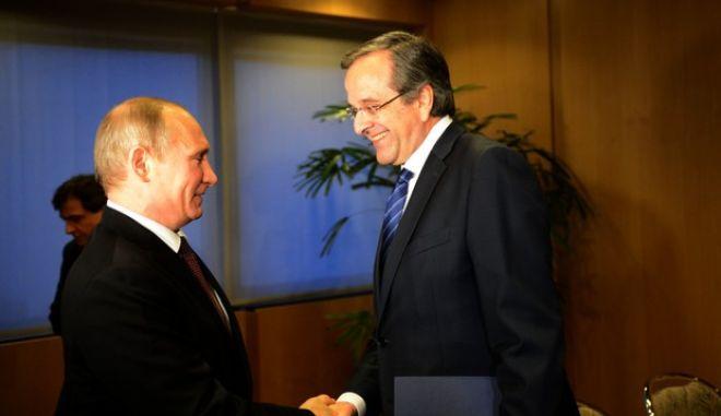 Μείωση στις τιμές του φυσικού αερίου ζήτησε ο Σαμαράς από τον Πούτιν