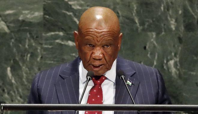 Ο πρωθυπουργός του Λεσότο, Τόμας Ταμπάνε
