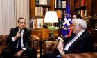 Συνάντηση του Προέδρου της Δηκορατίας, Προκόπη  Παυλόπουλου με τον τέως Γάλλο Πρόεδρο Francois Hollande