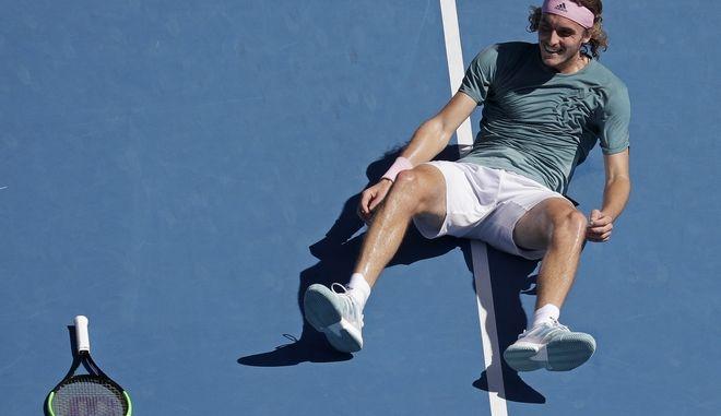 Στέφανος Τσιτσιπάς στα προημητελικά του Αυστραλιανού Open