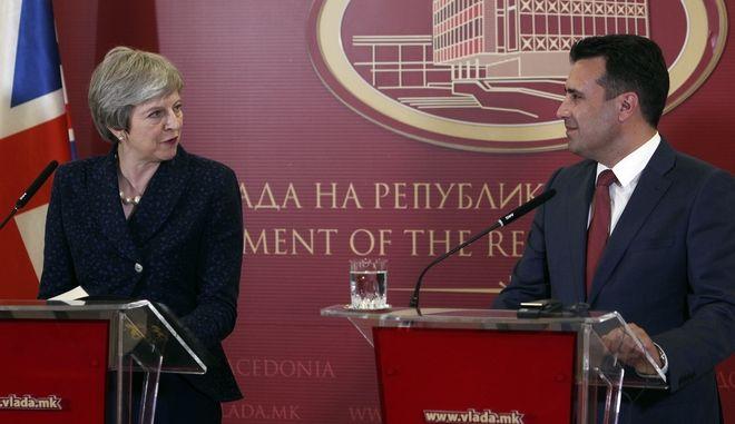 Συνάντηση Ζάεφ-Μέι στα Σκόπια