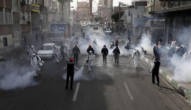 Καθαρισμός των δρόμων στο Ιράν