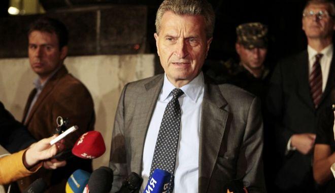 Ο αρμόδιος για τον προϋπολογισμό επίτροπος της ΕΕ, Γκίντερ Έτινγκερ
