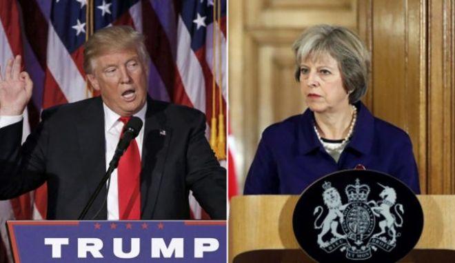 Τραμπ και Μέι φέρνουν κοντά ΗΠΑ και Βρετανία