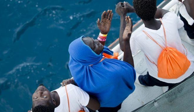 Μετανάστες από τη Λιβύη (AP Photo/Darko Bandic)