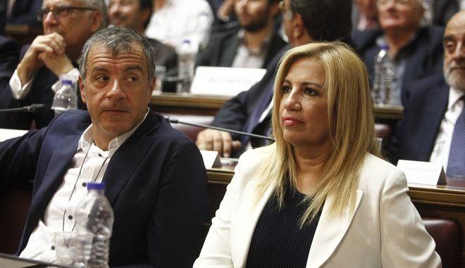 Τα 'άκουσε' ο Θεοδωράκης, παρόντες στο Συνέδριο Σημίτης-Μητσοτάκης