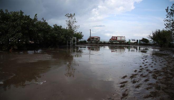 Πλημμύρες από την κακοκαιρία στην Εύβοια