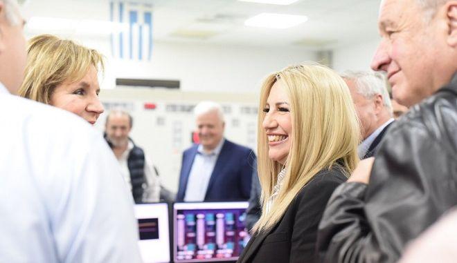 Επίσκεψη της Προέδρου του Κινήματος Αλλαγής Φώφης Γεννηματά στο εργοστάσιο της ΔΕΗ στο Λαύριο την Παρασκευή 17 Μαΐου 2019