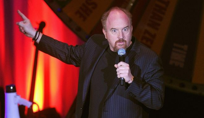 NEW YORK, NY - NOVEMBER 10:  (Exclusive Coverage)  Louis C.K. performs onstage at the 2012 A Funny Thing Happened On The Way To Cure Parkinson's event at The Waldorf=Astoria on November 10, 2012 in New York City benefitting The Michael J. Fox Foundation for Parkinson's Research.  (Photo by Mike Coppola/Getty Images for the Michael J. Fox Foundation for Parkinson's Research)