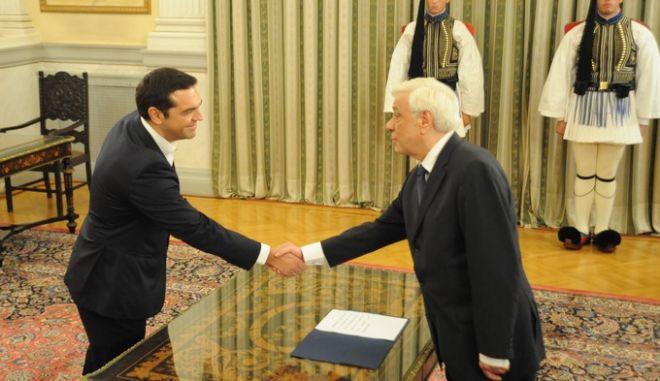Ορκωμοσία του πρωθυπουργού Αλέξη Τσίπρα την Δευτέρα 21 Σεπτεμβρίου 2015, στο Προεδρικό Μέγαρο. (Phasma/ΝΙΚΟΛΑΙΔΗΣ ΓΙΩΡΓΟΣ)