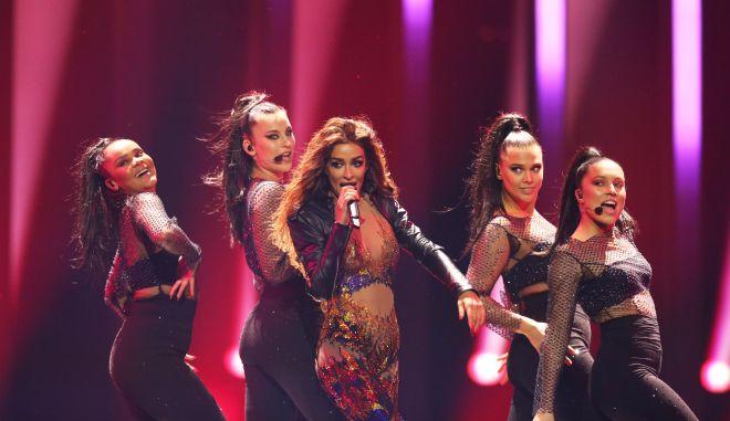 Η εμφάνιση της Ελένης Φουρέιρα στη σκηνή της Eurovision
