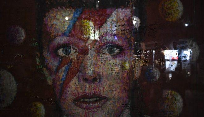 Τοιχογραφία που απεικονίζει τον David Bowie, στο Λονδίνο