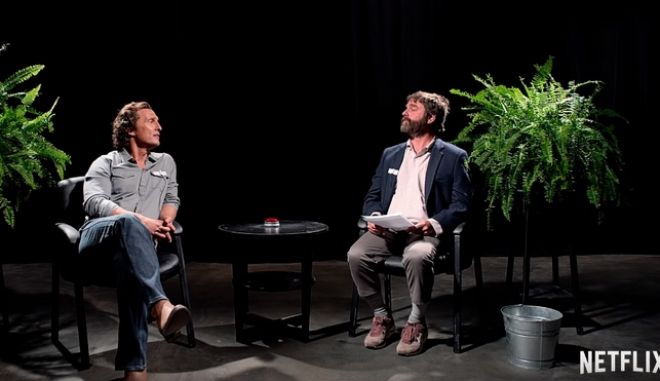 Between Two Ferns: Ο Ζακ Γαλιφιανάκης σχεδόν σκοτώνει τον Μάθιου ΜακΚόναχι