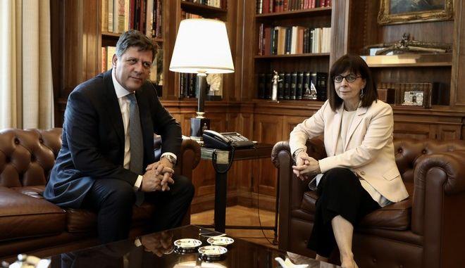 Συνάντηση Αναπληρωτή Υπουργού Εξωτερικών Μιλτιάδη Βαρβιτσιώτη με την Πρόεδρο της Δημοκρατίας Κατερίνα Σακελλαροπούλου
