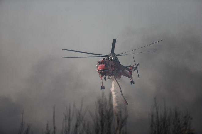 Πυρκαγιά στην Βαρυμπόπη, επόμενη ημέρα, Τετάρτη 4 Αυγούστου 2021