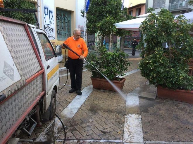Δήμος Αθηναίων: Επιχείρηση καθαριότητας στην περιοχή του Ψυρρή
