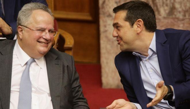 Ο Αλέξης Τσίπρας και ο Νίκος Κοτζιάς