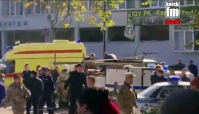 Τρομοκρατική επίθεση το περιστατικό με την έκρηξη στην τεχνική σχολή στο Κέρτς της Κριμαίας