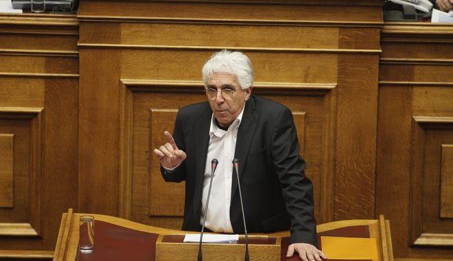 ΑΘΗΝΑ-ΒΟΥΛΗ-Προ ημερησίας διάταξης συζήτηση στη Βουλή για θέματα της Δικαιοσύνης. Την πρωτοβουλία για τη συζήτηση των πολιτικών αρχηγών είχε αναλάβει με επιστολή του προς τον πρόεδρο της Βουλής, Νίκο Βούτση, ο Πρωθυπουργός Αλέξης Τσίπρας// ΣΤΗ ΦΩΤΟΓΡΑΦΙΑ  Ο ΥΠΟΥΡΓΟΣ ΔΙΚΑΙΟΣΥΝΗΣ ΝΙΚΟΣ ΠΑΡΑΣΚΕΥΟΠΟΥΛΟΣ .(Eurokinissi- ΚΟΝΤΑΡΙΝΗΣ ΓΙΩΡΓΟΣ)