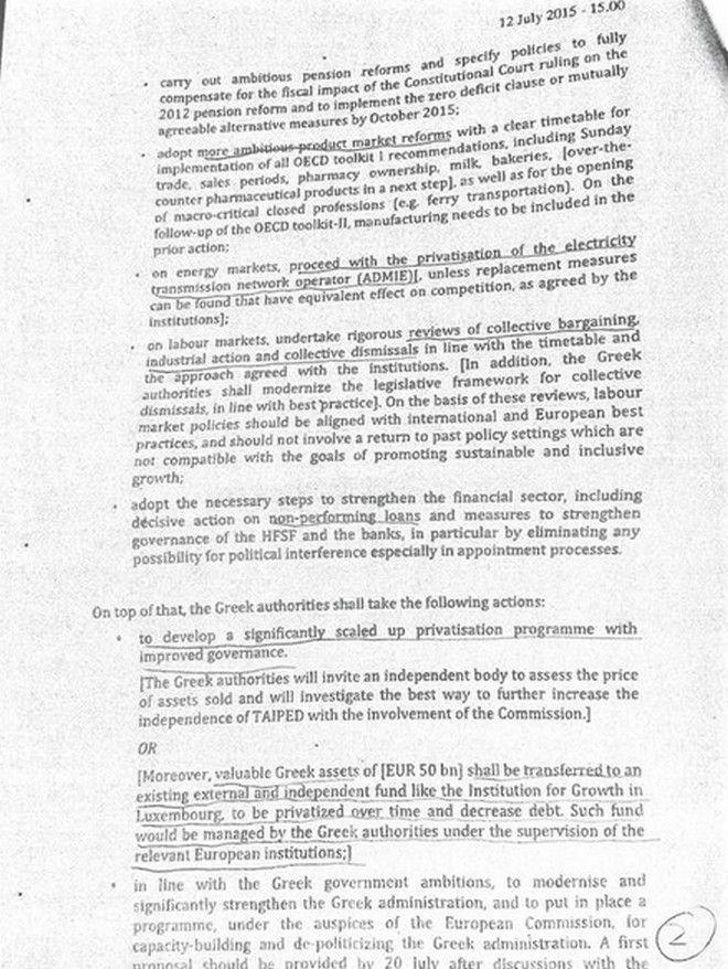 Αυτά τα μέτρα ζητά το Eurogroup να ψηφίσει η ελληνική Βουλή ως την Τετάρτη