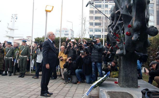 Εκδήλωση για την Ημέρα μνήμης των Ελλήνων Εβραίων Μαρτύρων και Ηρώων του Ολοκαυτώματος στην Θεσσαλονίκη την Κυριακή 29 Ιανουαρίου 2017. (MOTIONTEAM/ΦΑΝΗ ΤΡΥΨΑΝΗ)