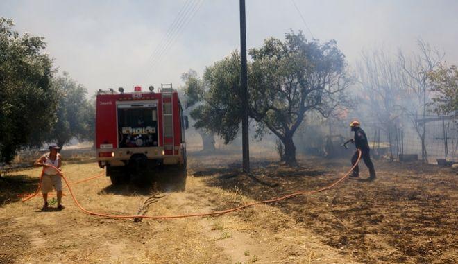 Μάχη με τις φλόγες σε Μέγαρα και Ανατολική Μάνη