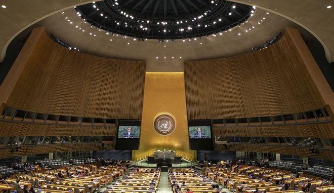 Από τη γενική συνέλευση του ΟΗΕ το 2019.
