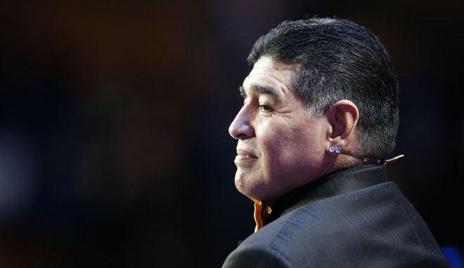 Ο θρύλος του ποδοσφαίρου Diego Maradona