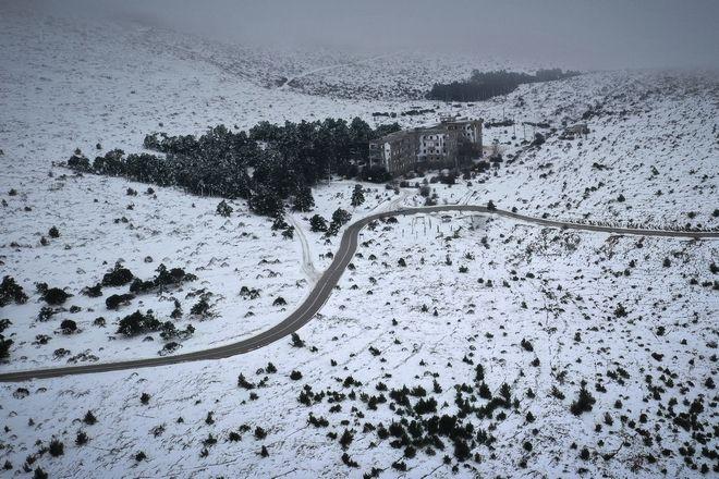 Η χιονισμένη Πάρνηθα