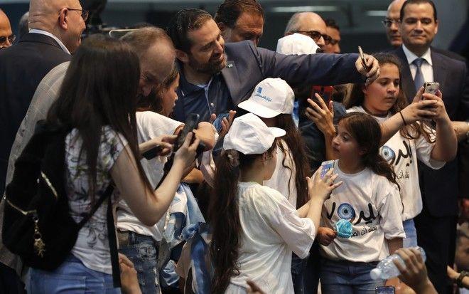Ο Σάαντ Χαρίρι λίγη ώρα πριν από τις κυριακάτικες εκλογές