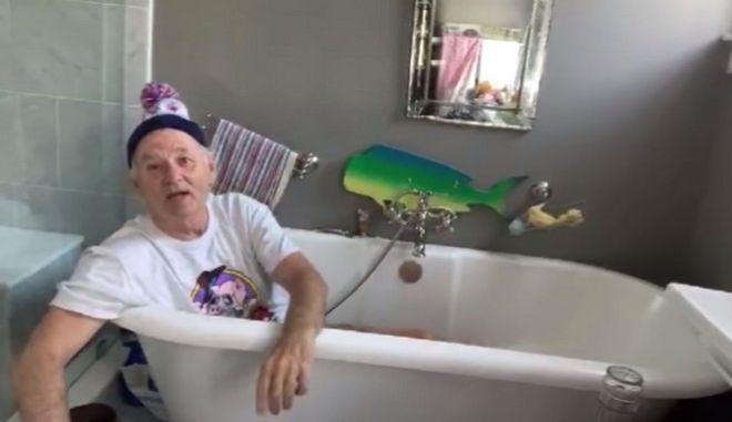 Ο Μπιλ Μάρεϊ και η μπανιέρα του καλεσμένοι στον Τζίμι Κίμελ