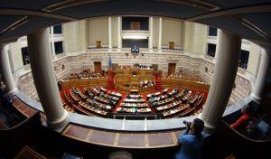 ΒΟΥΛΗ //  (ΑΠΟΓΕΥΜΑΤΙΝΗ ΣΥΝΕΔΡΙΑΣΗ)  Συζήτηση και λήψη απόφασης για τη σύσταση Ειδικής Κοινοβουλευτικής Επιτροπής για τη διενέργεια προκαταρκτικής εξέτασης,για την ενδεχόμενη τέλεση των αδικημάτων της δωροληψίας και δωροδοκίας και της νομιμοποίησης εσόδων από εγκληματική δραστηριότητα, σύμφωνα με τα διαλαμβανόμενα στην πρόταση, από τους :1) Αντώνιο Σαμαρά, 2) Παναγιώτη Πικραμμένο, 3) Δημήτριο Αβραμόπουλο, 4) Ανδρέα Λοβέρδο, 5) Ανδρέα Λυκουρέντζο, 6) Μάριο Σαλμά, 7) Σπυρίδωνα - Άδωνι Γεωργιάδη, 8) Ιωάννη Στουρνάρα, 9) Ευάγγελο Βενιζέλο, 10) Γεώργιο Κουτρουμάνη. ΤΕΤΑΡΤΗ 21/2/2018.  (EUROKINISSI/ΓΙΩΡΓΟΣ ΚΟΝΤΑΡΙΝΗΣ)