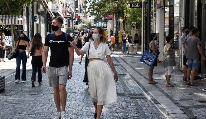 Εικόνα από το εμπορικό κέντρο της Αθήνας σε καιρό κορονοϊού