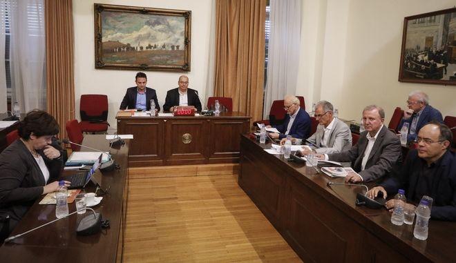 Συνεδρίαση της Εξεταστικής Επιτροπής για τη διερεύνηση σκανδάλων στο χώρο της Υγείας