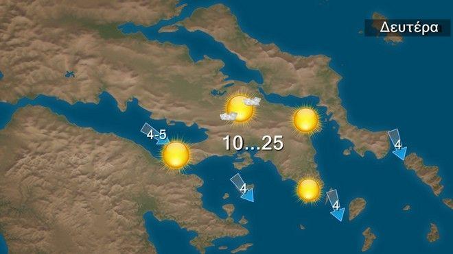 Ζεστός καιρός με αρκετή ηλιοφάνεια την Δευτέρα