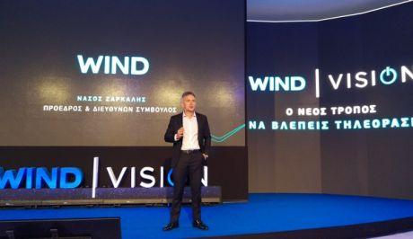 O Νάσος Ζαρκαλής πρόεδρος της Wind κατά την παρουσίαση της Wind Vision