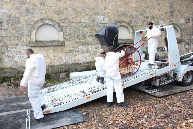 Ολοκληρώθηκε η εκκένωση του Στάβλου του Γεωργίου Α΄ στο πρώην βασιλικό κτήμα Τατοϊου