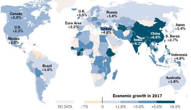 Χάρτης: Η σκακιέρα της παγκόσμιας οικονομίας δέκα χρόνια από το 'κραχ'