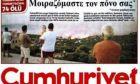 """Το παρασκήνιο του εκπληκτικού πρωτοσέλιδου της """"cumhuriyet"""" για τις φωτιές στην Αθήνα"""