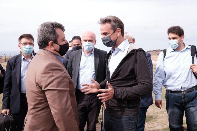 Επίσκεψη του πρωθυπουργού Κυριάκου Μητσοτάκη στην Σαμοθράκη, το Σάββατο 17 Οκτωβρίου 2020.