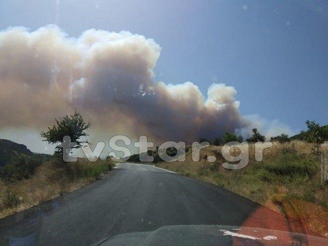 Φωτιά στην Εύβοια, περιοχή Μανίκια