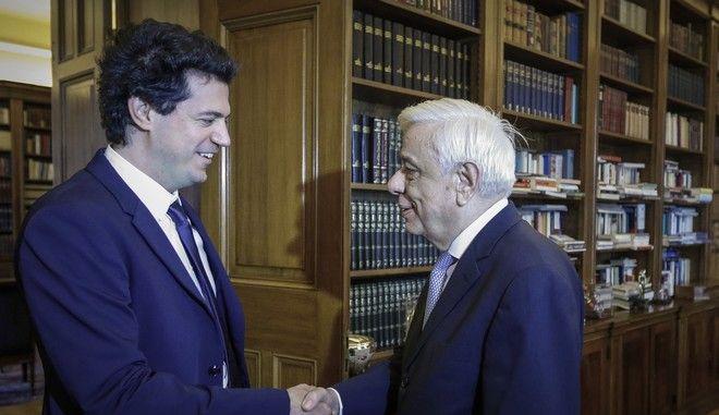 Συνάντηση του Προέδρου της Δημοκρατίας Προκόπη Παυλόπουλου με τον καθηγητή του ΜΙΤ Κωνσταντίνο Δασκαλάκη, τον Οκτώβριο του 2018