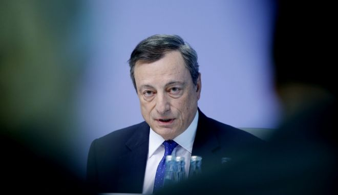 The President of the European Central Bank Mario Draghi speaks during a news conference in Frankfurt, Germany, Thursday, April 27, 2017. (AP Photo/Michael Probst)